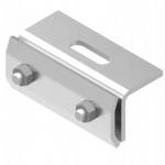 Uchwyt montażowy K2 do dachów na rąbek, maksymalna szerokość rąbka 7 mm, moment obrotowy 12-15 Nm.