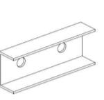 Łączniki Ceowe do szyn montażowych 40x40 i 40x80 C 120