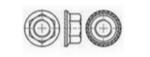 Nakrętka DIN 6923 A2 M10 Ząbkowana