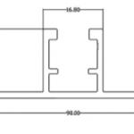 Szyna montażowa trapezowa 20mm