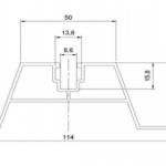 Szyna montażowa trapezowa 40 mm