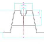 Szyna montażowa trapezowa 70mm